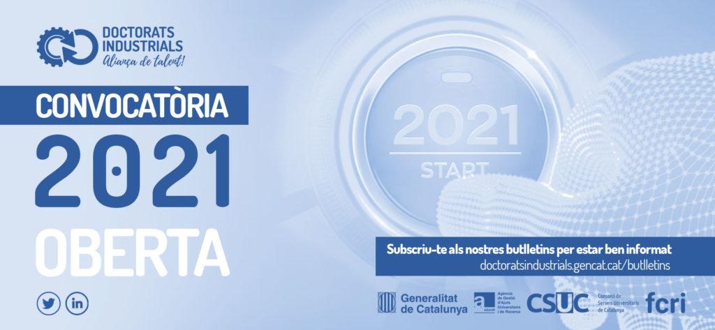 Convocatòria Doctorats Industrials 2021