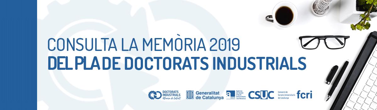 Memoria Doctorats Industrials 2019